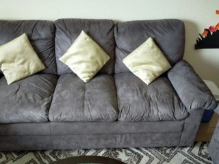 Sofa set with coffee tables For Sale