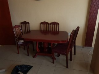 Dining Table With 6 chair For Sale
